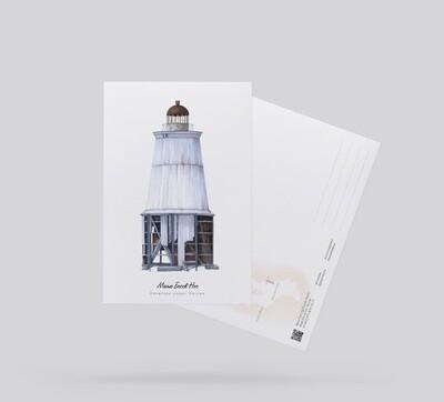 Postcard Lighthouse Besov Nos, Russia.  Открытка Маяк Бесов Нос, Россия