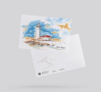 Postcard Lighthouse Tolbukhin, Russia Открытка Маяк Толбухин, Россия