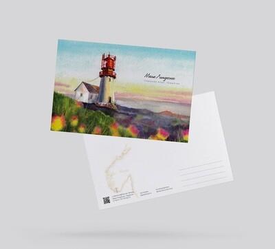 Postcard Lindesnes Lighthouse, Norway Открытка Маяк Линдеснес, Норвегия
