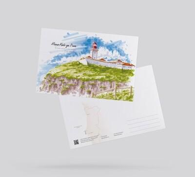 Postcard Lighthouse Cabo da Roca, Portugal Открытка Маяк Кабо да Рока, Португалия