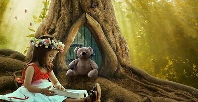 Girl reading a book Девочка читает книгу