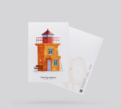 Postcard Lighthouse Svalbard Seiri, Island Открытка
