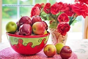 Apples in a bowl.