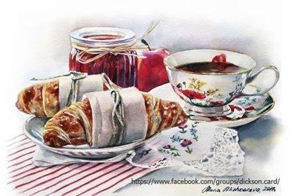 PARIS breakfast with croissants from © Maria Mishkareva