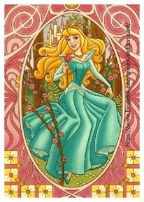 Disney, Princess Aurora with a rose