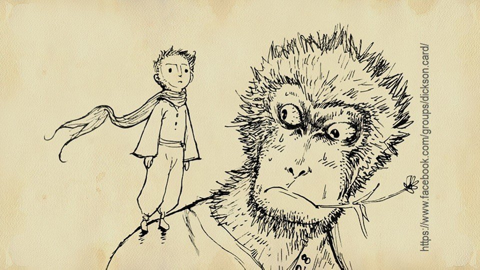 Little Prince with monkey.