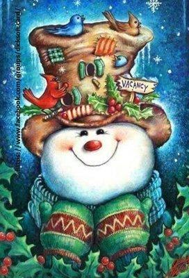 Postcard Snowman