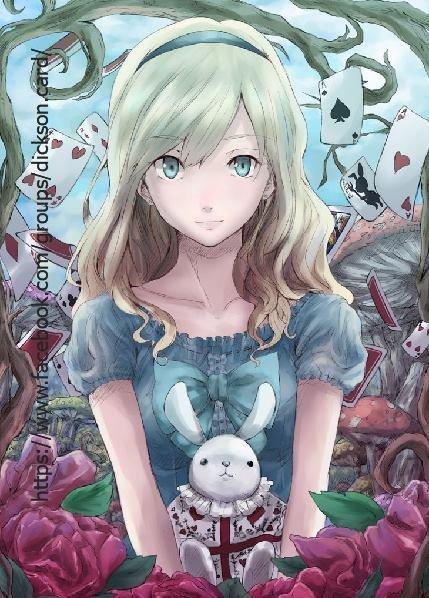 Alice In Wonderland Postcards (watercolor).