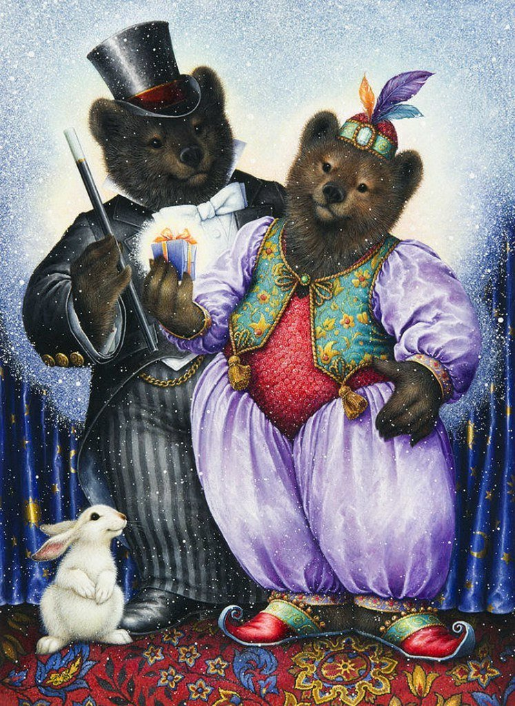 Two bears in the circus from ©​ Lynn Bywaters