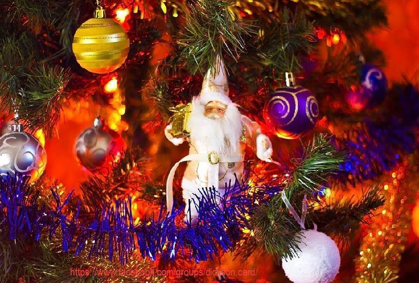 Postcard Christmas theme
