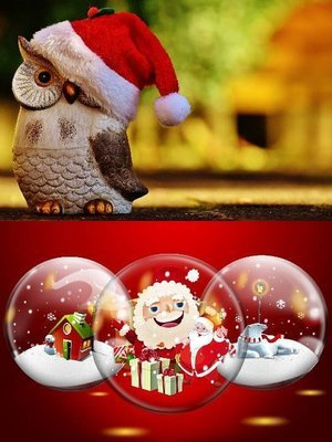 Postcard Christmas collage​
