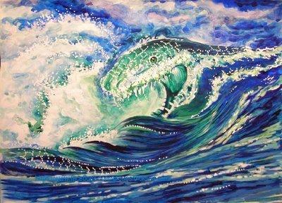 Sea beast in the waves