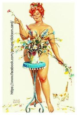 Hilda behind a vase of flowers by © Duane Bryers