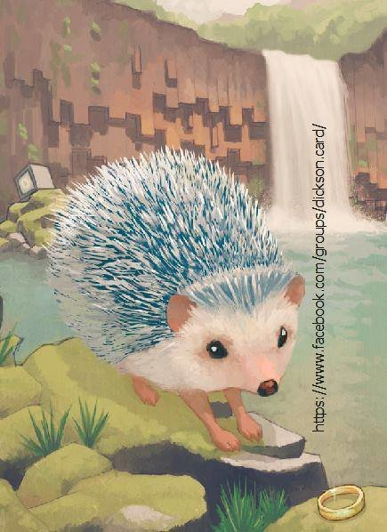 Hedgehog with a ring