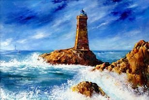 Lighthouse drawn by © H.Chernova