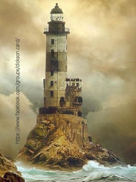 Lighthouse at the top of the cliff