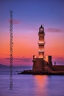 Postcard Lighthouse at sunset