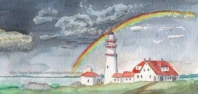 Lighthouse with a rainbow​