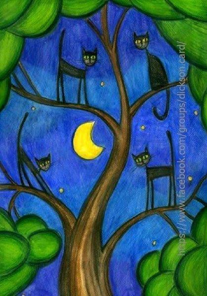Black seals on the tree