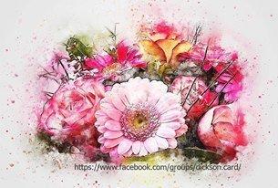 Bouquet - Spray paint style