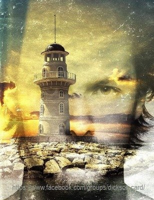 Lighthouse through face