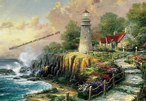 Lighthouse the light of Peace, Thomas Kinkade