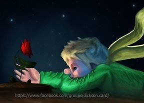 Little Prince with a rose