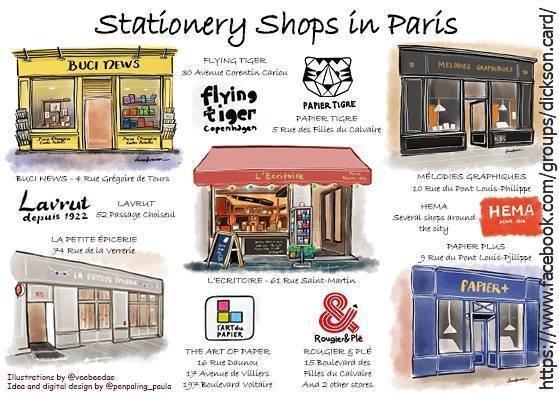 © Stationery Shops Travel Guide ❤️ PARIS