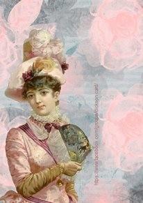 Vintage lady with fan