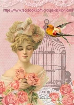 Vintage dame rose