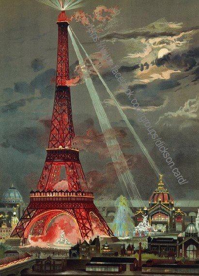 La tour eiffel red . Paris