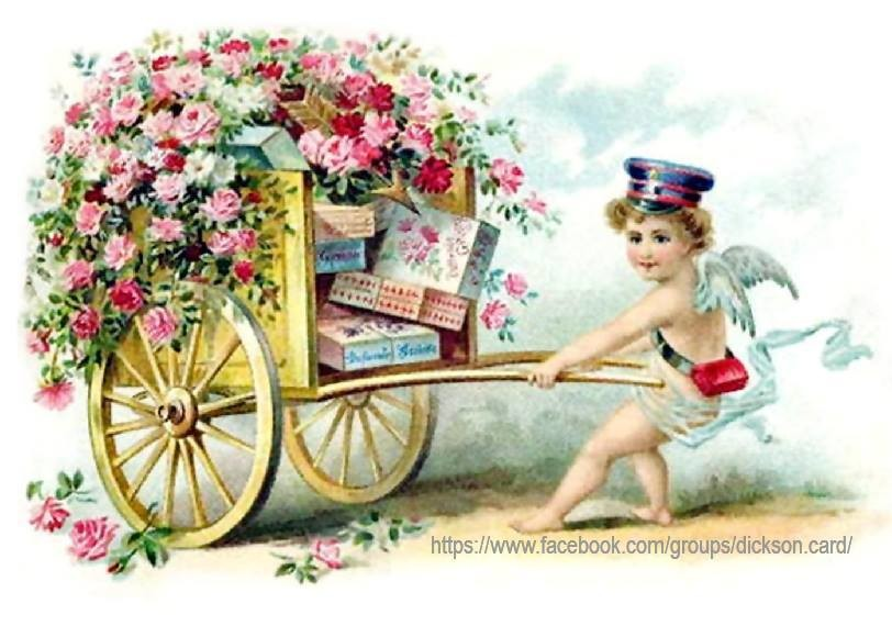 Angel with a cart of messages