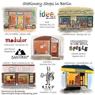 ​© Stationery Shops Travel Guide - Berlin❤