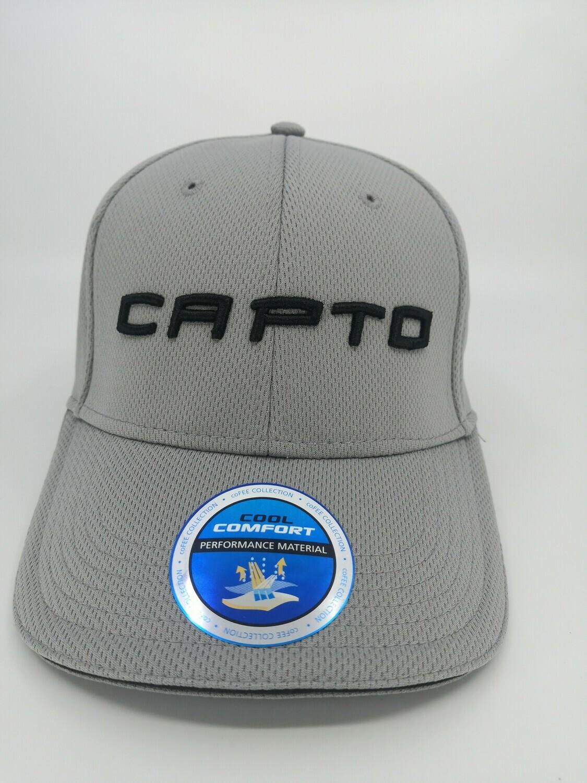 Capto light grey 3d logo cap