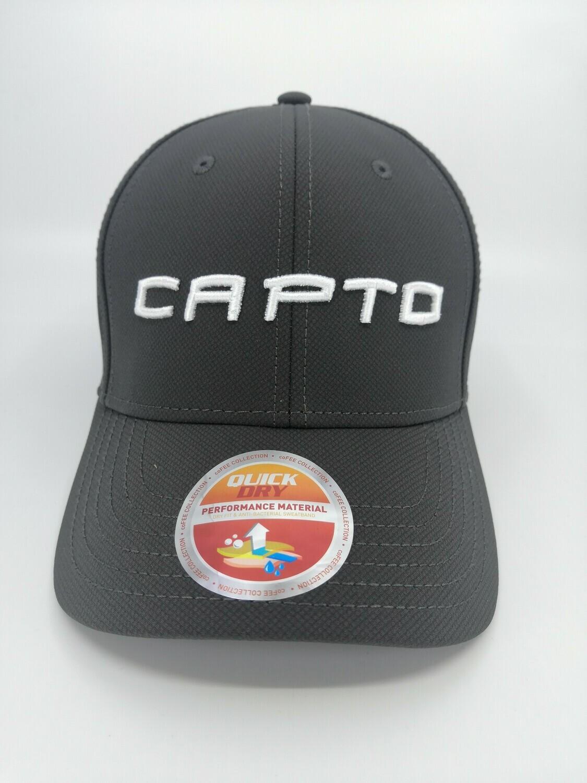 Capto dark grey 3d logo cap