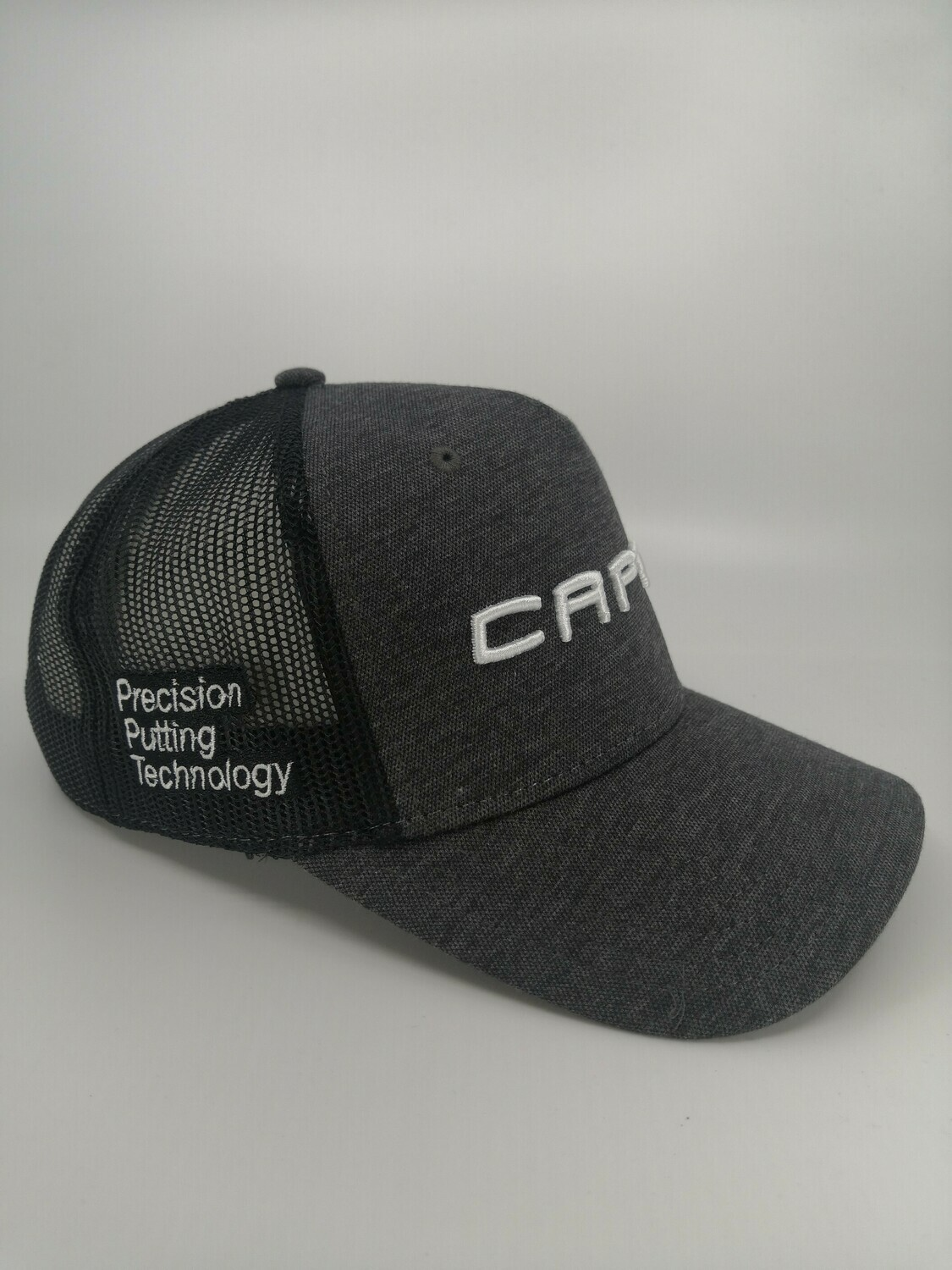 Capto perforated grey 3d logo cap