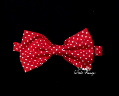 Red And White Polka Dot Bow Tie