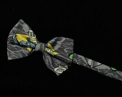 Dr. Who Madman on Grey Printed Bow Tie