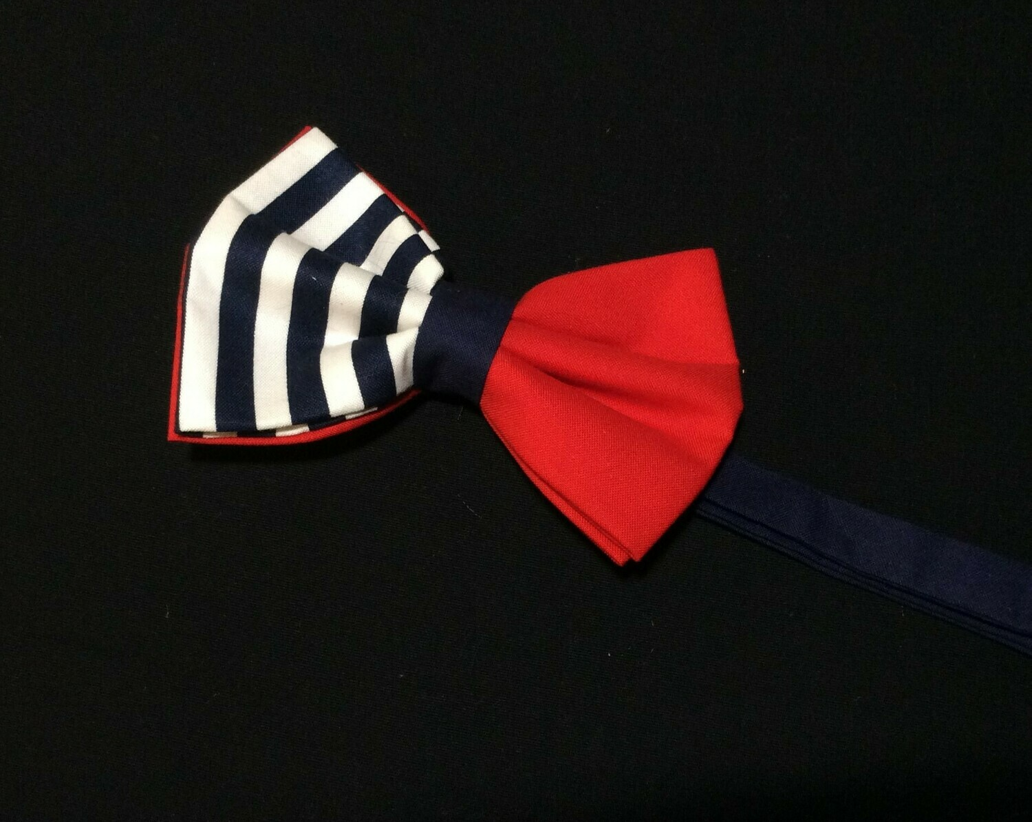 Red White & Navy Stripes Bow Tie