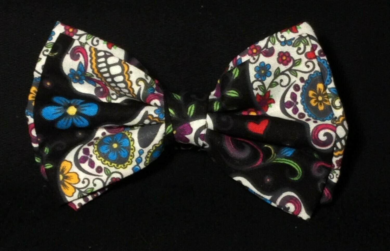 Sugar Skull Bow Tie, Día de los Muertos Day of the Dead