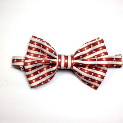 Red & White Stars and Stripes Bow tie