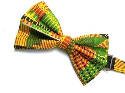 African Inspired Kente Print Bow Tie