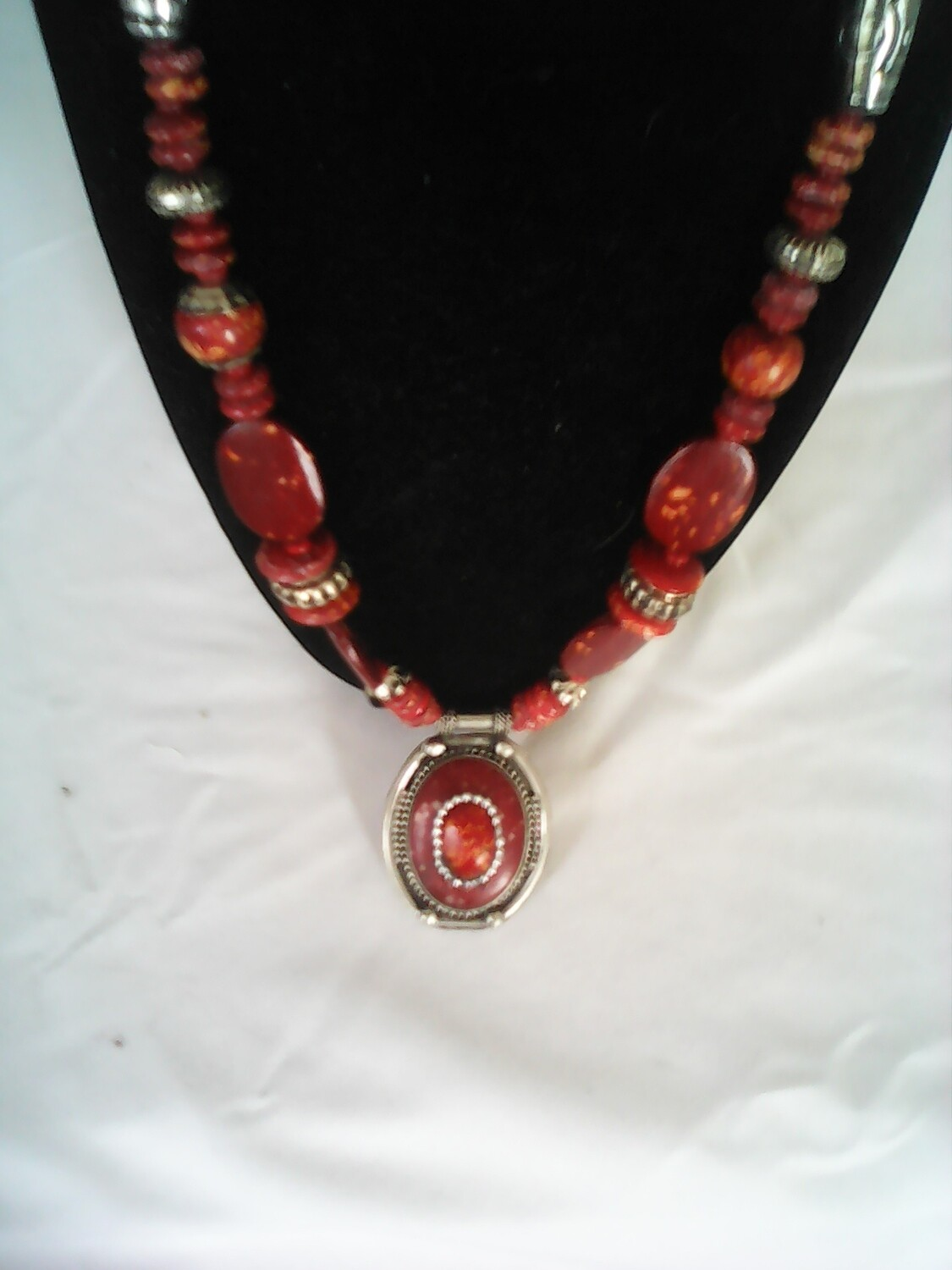 Red Stones  Necklace