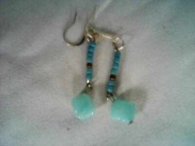 Green Stone Earring