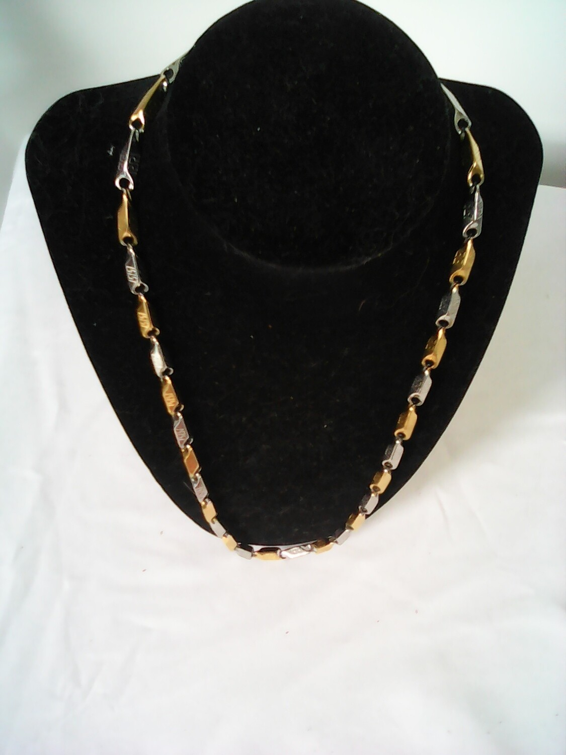 Silver & Gold Stainless Steel Necklace
