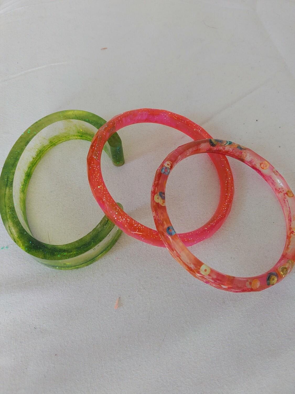 3 Resin Bracelets