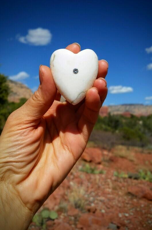 White Light  Holding Heart Healer Sedona Crystal Ascended Masters  & Golden Ray of LOVE