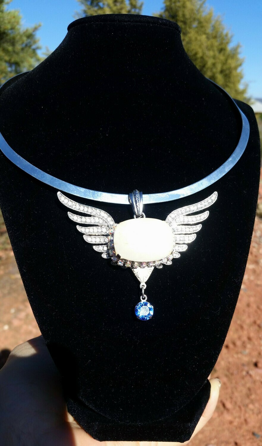 Gorgeous White light Mega Power of the Angel Wings of the Goddess Sedona  Activator healer Crystal with Blue Ray/ Lightworkers Sale $444/555.00