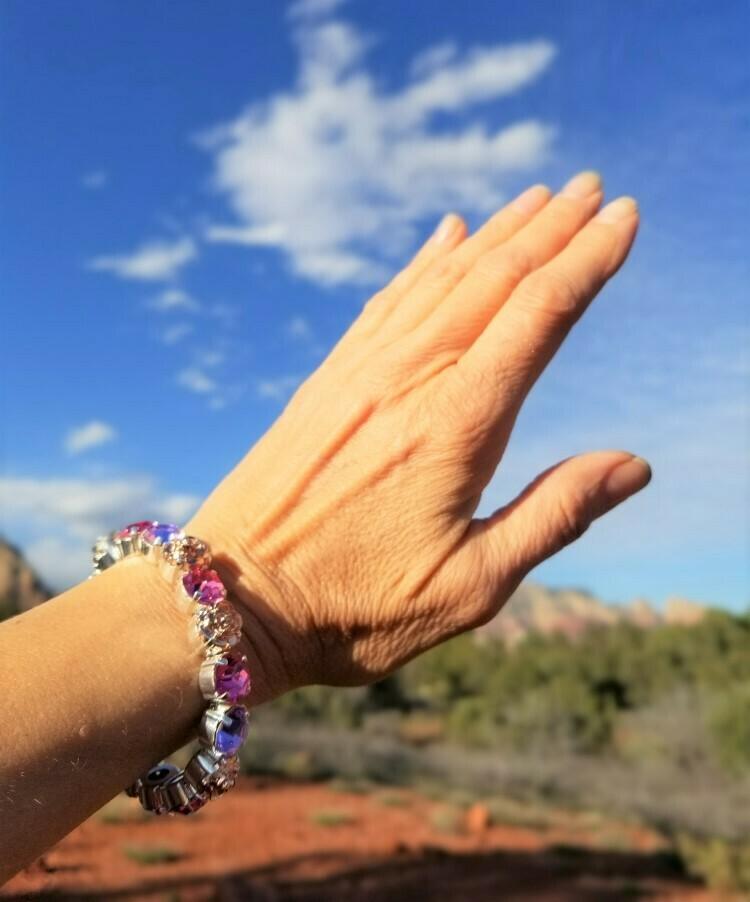 Devic Crystal LOVE Technology Bracelets/Sister of the Sacred Rose Priestess Lavender $88.00/ $133.00 retreat sale