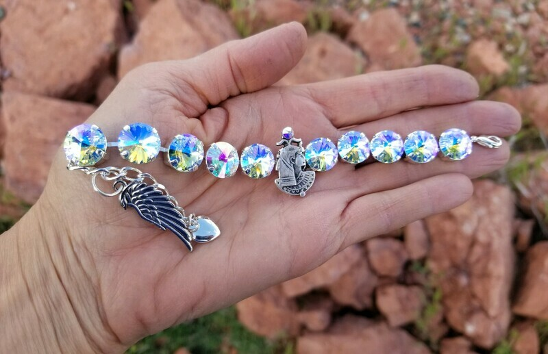 Devic Crystal LOVE Technology Bracelet/Stunning Goddess Isis Cosmic Wings of Light $122.00/$188.00 Goddess retreat Sale